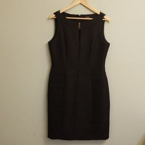 Tahari black sheath dress